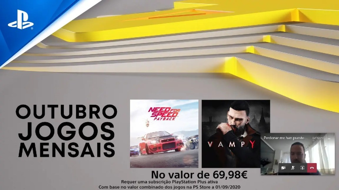 Jogos PlayStation Plus | Outubro 2020 | Need for Speed: Payback + Vampyr