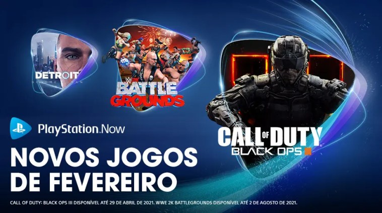 Playstation Now, Call of Duty: Black Ops III e Detroit Become Human chegam agora ao PlayStation Now