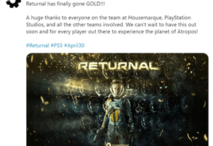 Returnal atinge fase Gold - Sony Interactive Entertainment Portugal