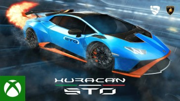 Rocket League — Lamborghini Huracán STO Trailer, Rocket League — Lamborghini Huracán STO Trailer