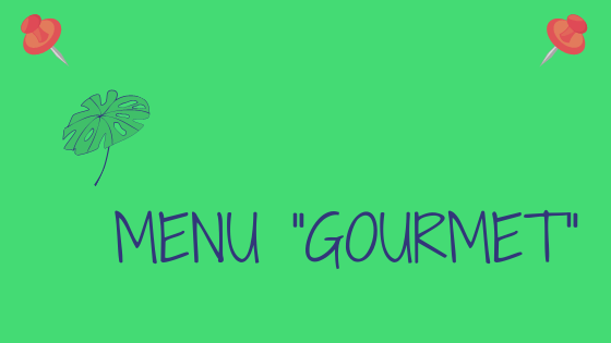 Cartel Web Menu gourmet FRA
