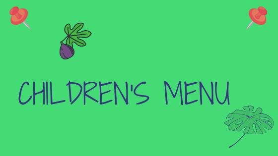 Cartel Web Menu niños ENG