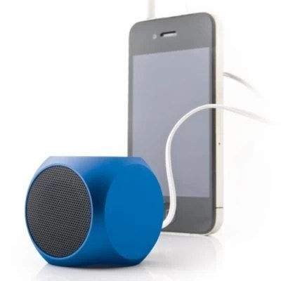 cube mini bluetooth speaker blue