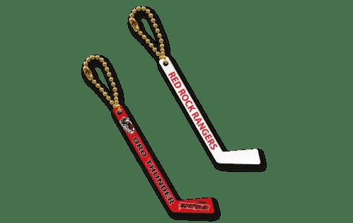 Hockey Stick Keychains