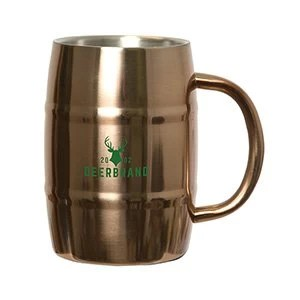 Custom Brewmaster Barrel Mug - copper