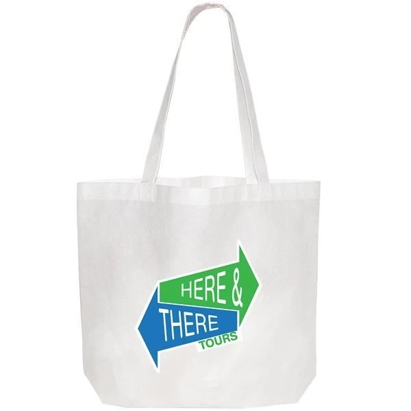 Large non woven Tote Bag - white