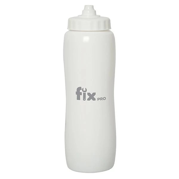 Valais Squeeze Water Bottle - white