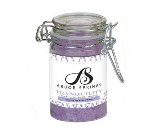 Custom Jar of Essential Oil Bath Salts