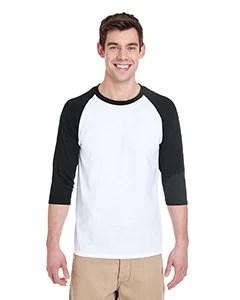Adult Heavy Cotton Three-Quarter Raglan Sleeve T-Shirt