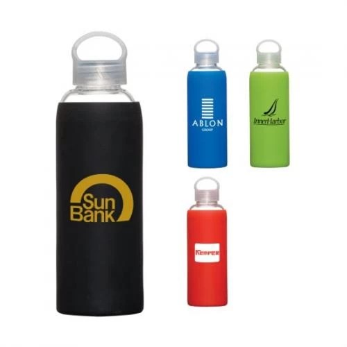 Silicon Sleeve Custom Glass Bottle