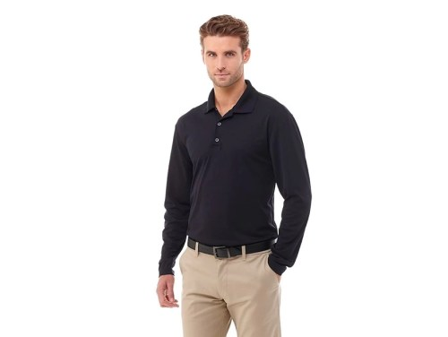 Custom Long Sleeve Polo - Men's