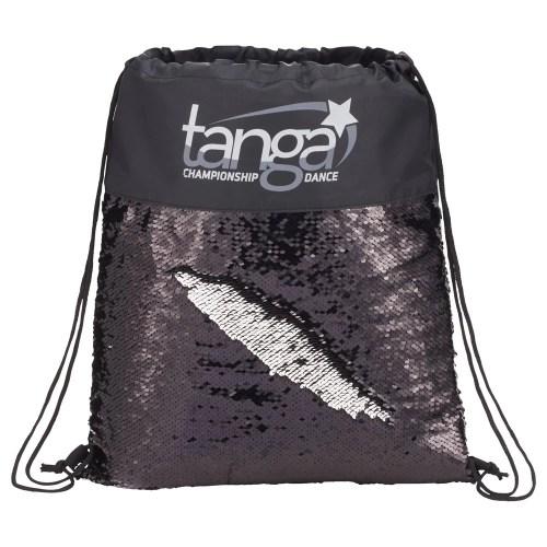 Mermaid Sequin Drawstring Bag Black/Silver
