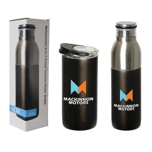 2-in-1 Custom Travel Tumbler Bottle