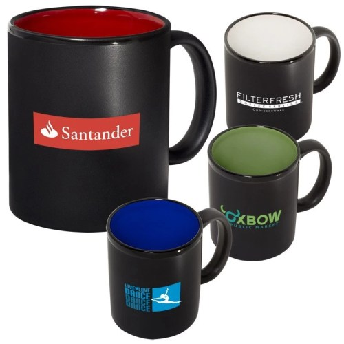 Two Tone Ceramic Custom Coffee Mugs