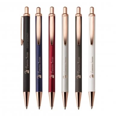 Rose Gold Custom Ballpoint Pens