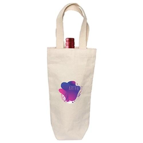 Cotton Custom Wine Bag