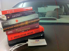 Another sweet stack of books from Random House. By the end of the tour, I'll have a stack taller than me.