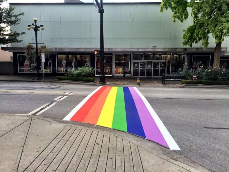 New Westminster Pride crosswalk