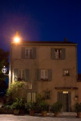 Typical Grimaud house at night, Rue de l'église