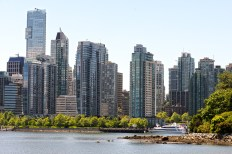 Downtown, from Stanley Park Drive