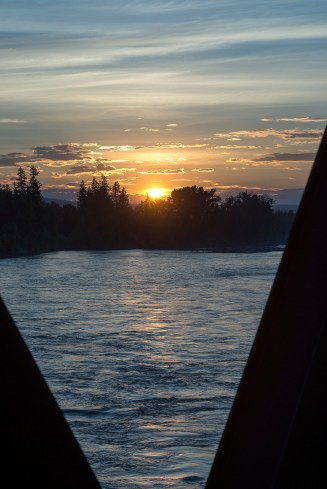 Sunset over the Quesnel River.