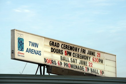 Grad Ceremony at the Twin Arenas