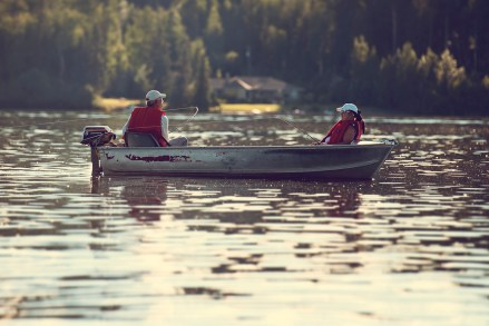 Quality time: Fisher-folk on 10-Mile Lake