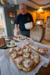 Quite fortuitously, Dave was busy making chelsea buns (or is that sticky buns?)