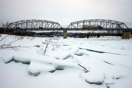 Quesnel River Bridge from upriver