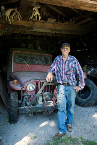 Bob and an old jeep