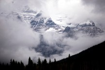 Mount Robson, as it was when I passed it by. Fortunately I've seen it on a clear day before