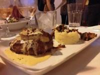 Sirloin with foie gras and potato pure
