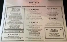 Mini Bar the Menu