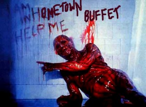This is exactly how I remember eating at Hometown Buffet.