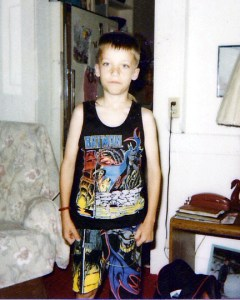 Pictured: Me in my school uniform.