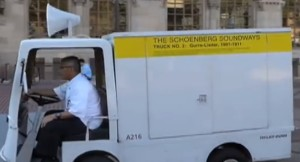 """The """"Schoenberg Soundways"""" truck in action"""