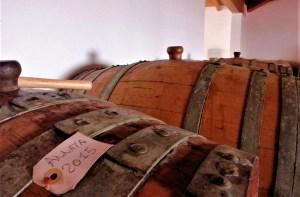 Lavorazione del Vin Santo di Vigoleno - botti per l'invecchiamento a Cantina Visconti