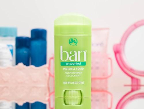 Desodorante Antitranspirante Ban Sólido Invisível Sem Perfume