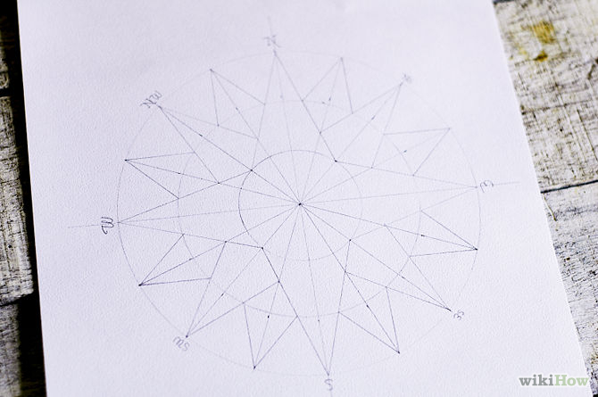 670px-Draw-a-Compass-Rose-Step-11