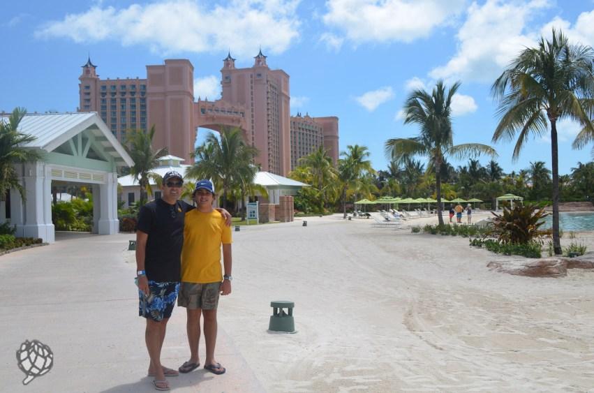 Pipo e JR praia Nassau