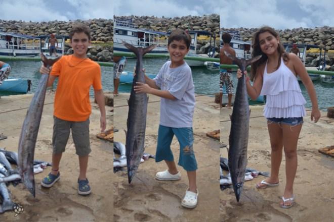 os 3 com os peixes