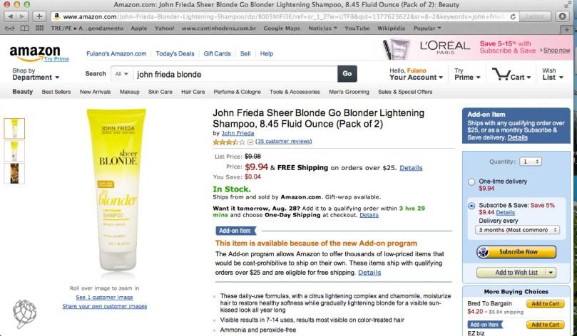 tela Amazon John Frieda2