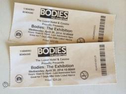 Bodies Luxor ingressos