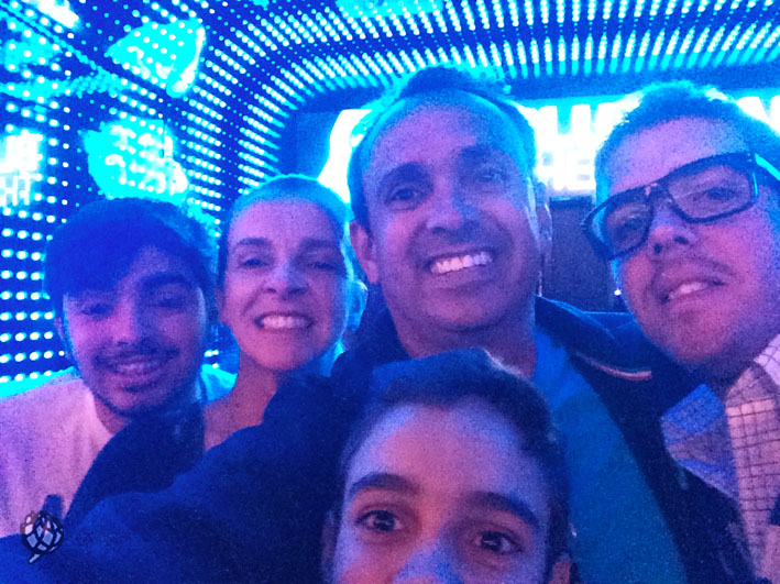 Blue Man Las Vegas selfie familia