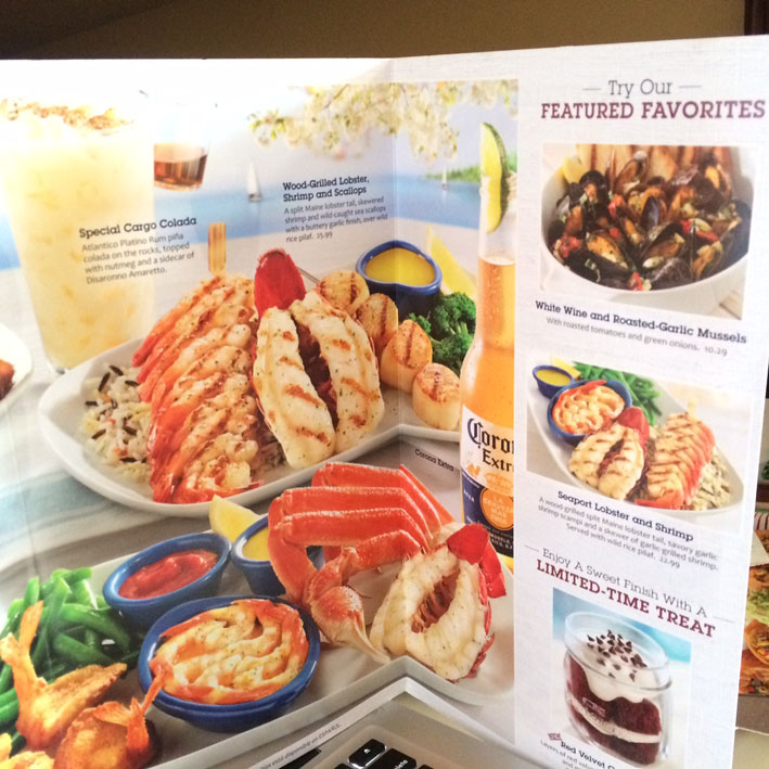 Red Lobster Las Vegas cardapio1
