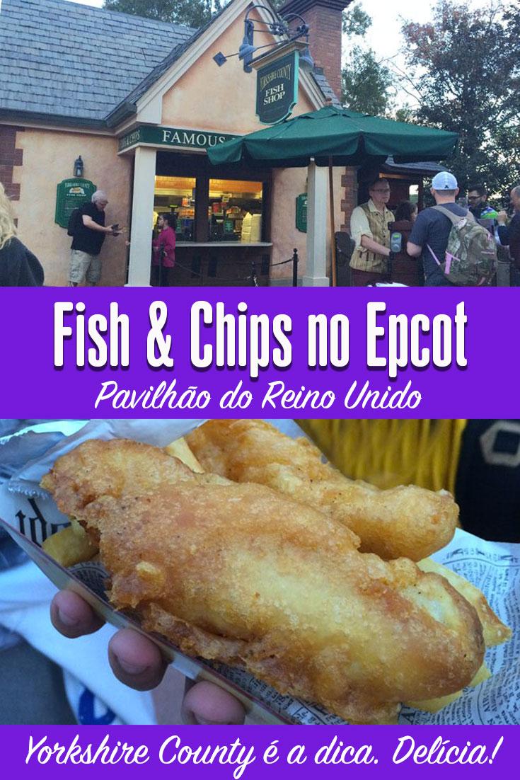 Fish ahd Chips no Epcot em Orlando