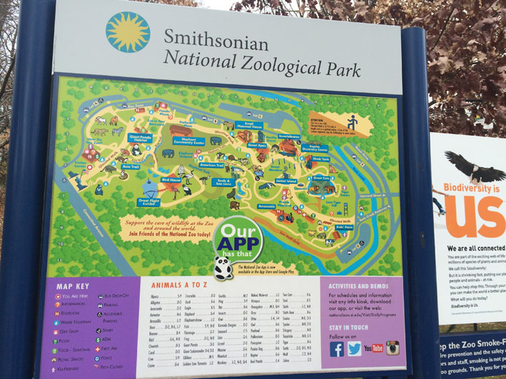 Zoo-de-Washington-mapa