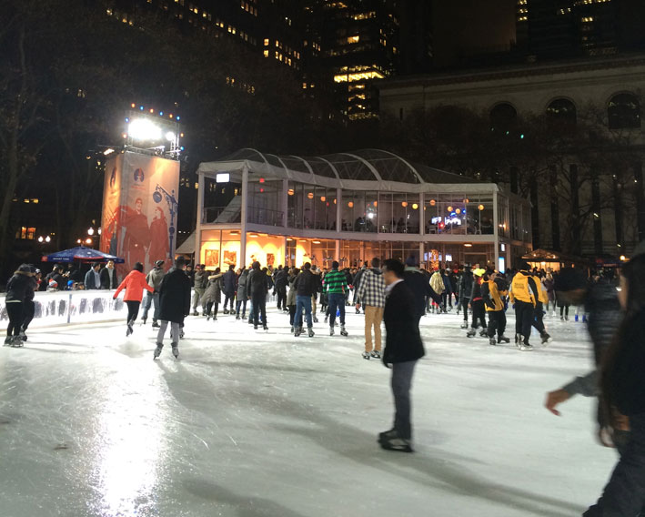 Bryant-Park-New-York-noite