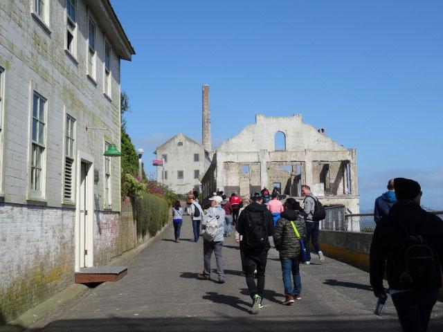 Alcatraz-chegada