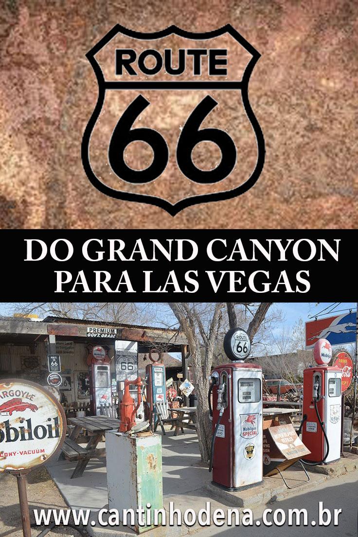 De carro pela Rota 66 do Grand Canyon para Las Vegas
